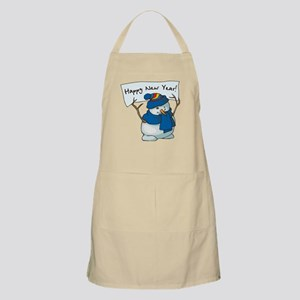 Happy New Years Snowman Apron