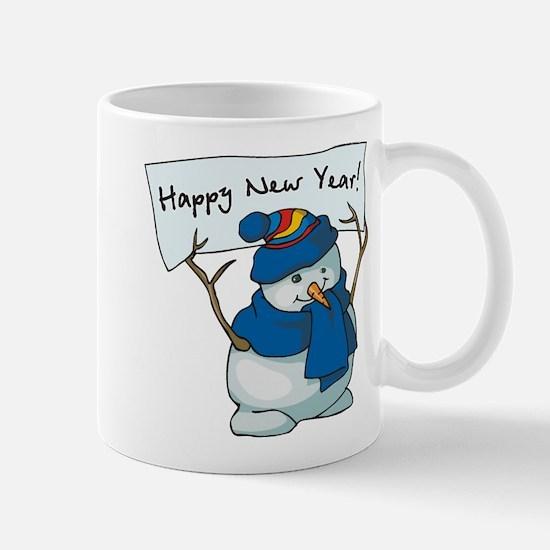 Happy New Years Snowman Mug