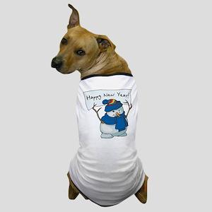 Happy New Years Snowman Dog T-Shirt