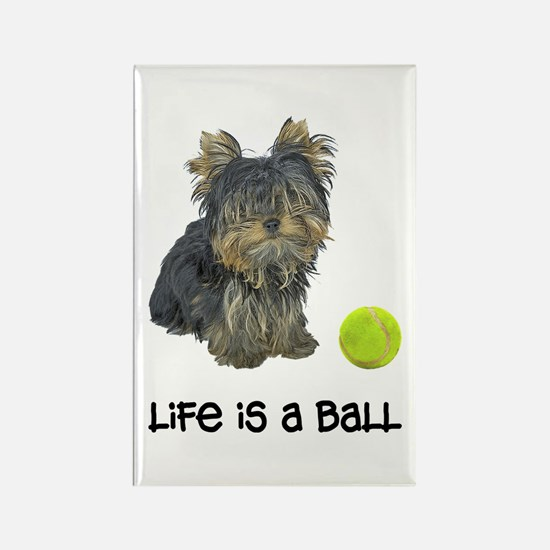 Yorkie Life Rectangle Magnet