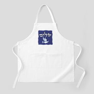 Shalom w/Dove /Bg (Hebrew) BBQ Apron