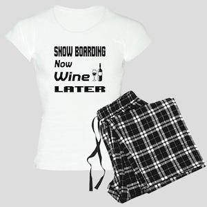 Snow Boarding Now Wine Late Women's Light Pajamas