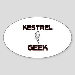Kestrel Geek Oval Sticker