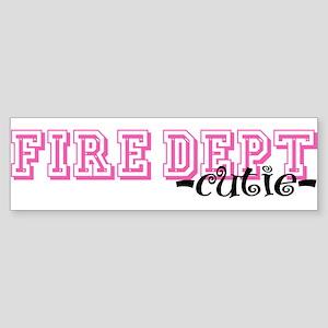 Fire Dept Cutie Jersey Style Bumper Sticker