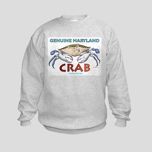 Double Maryland Crab Kids Sweatshirt