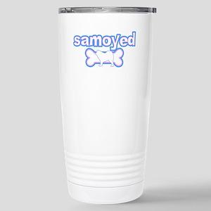 Powderpuff Samoyed Stainless Steel Travel Mug