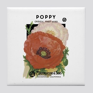 Poppy Tile Coaster