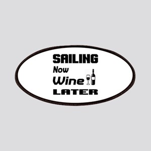 Sailing Now Wine Later Patch