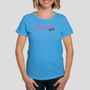 Fire Dept Girl Jersey Style Women's Dark T-Shirt