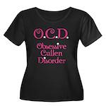 O.C.D. Women's Plus Size Scoop Neck Dark T-Shirt