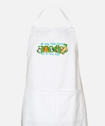 Fur and Four Legs BBQ Apron