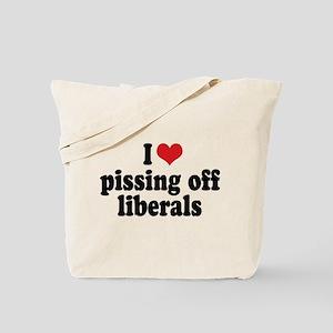 Anti-liberal I heart Tote Bag