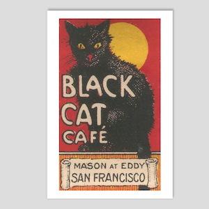 San Francisco Black Cat Cafe Postcards (Package of