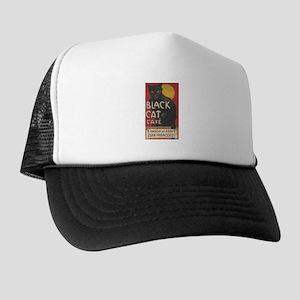 San Francisco Black Cat Cafe Trucker Hat