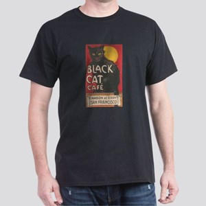 San Francisco Black Cat Cafe Dark T-Shirt