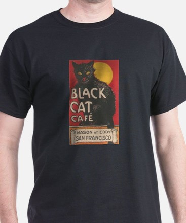 San Francisco Black Cat Cafe T-Shirt