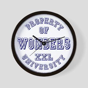 Property of Wonders University Wall Clock