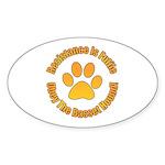 Basset Hound Sticker (Oval 50 pk)