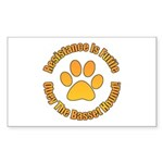 Basset Hound Sticker (Rectangle 50 pk)