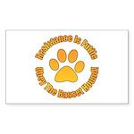 Basset Hound Sticker (Rectangle)