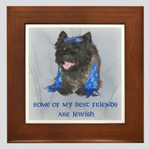 """Some of my Best Friends. . .Jewish Cairn Framed T"
