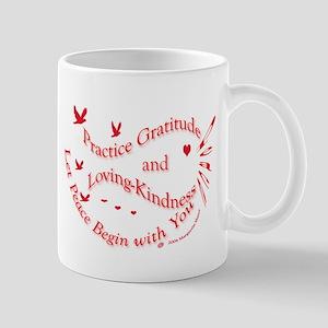 Gratitude, right handed, Mug