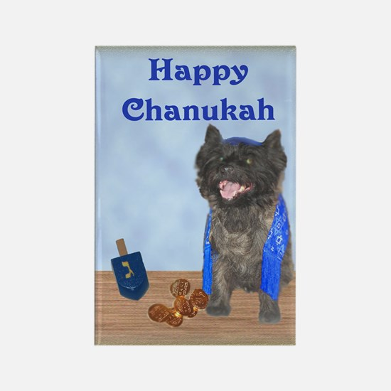 Cairn Terrier Chanukah Rectangle Magnet