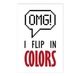 I flip in colors Postcards (Package of 8)