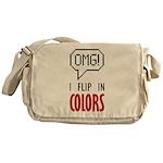 I flip in colors Messenger Bag
