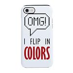 I flip in colors iPhone 8/7 Tough Case