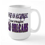 not an alcoholic... Large Mug