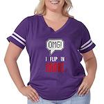 I flip in colors Women's Plus Size Football T-Shir