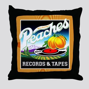 Peaches Records & Tapes Throw Pillow