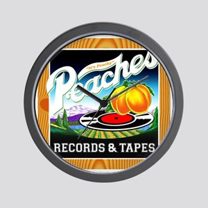 Peaches Records & Tapes Wall Clock