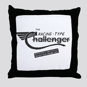 Challenger Vintage Throw Pillow