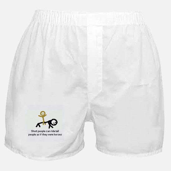 Short people can ride! Boxer Shorts