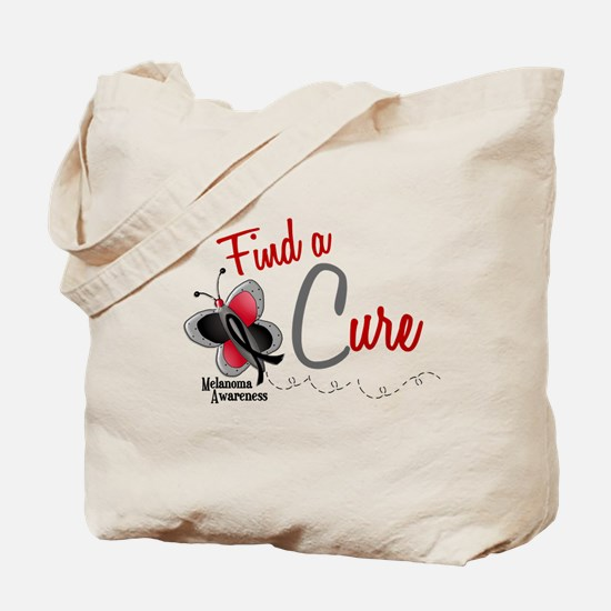 Find A Cure 1 Butterfly 2 MELANOMA Tote Bag