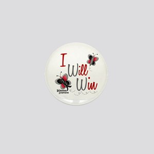I Will Win 1 Butterfly 2 MELANOMA Mini Button