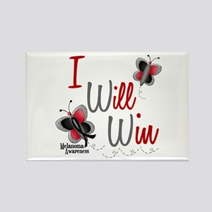 I Will Win 1 Butterfly 2 MELANOMA Rectangle Magnet