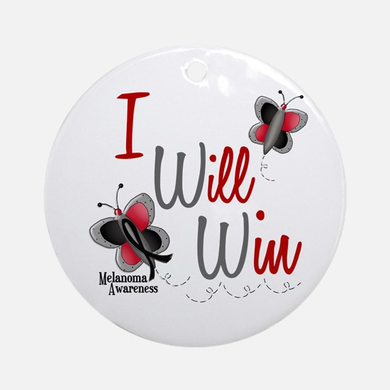 I Will Win 1 Butterfly 2 MELANOMA Ornament (Round)
