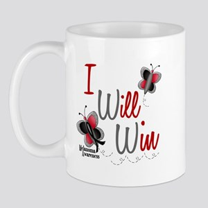 I Will Win 1 Butterfly 2 MELANOMA Mug