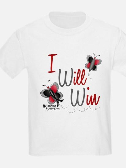 I Will Win 1 Butterfly 2 MELANOMA T-Shirt