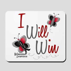 I Will Win 1 Butterfly 2 MELANOMA Mousepad
