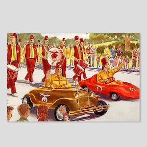 Shriner Mini Cars Postcards (Package of 8)