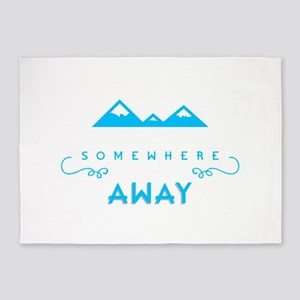 I Want To Go Somewhere Far, Far Awa 5'x7'Area Rug