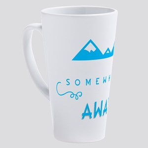 I Want To Go Somewhere Far, Far Aw 17 oz Latte Mug