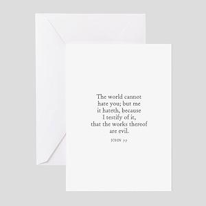 JOHN  7:7 Greeting Cards (Pk of 10)