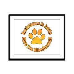 Bloodhound Framed Panel Print