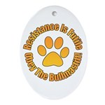 Bullmastiff Ornament (Oval)