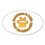 Bullmastiff Sticker (Oval 50 pk)